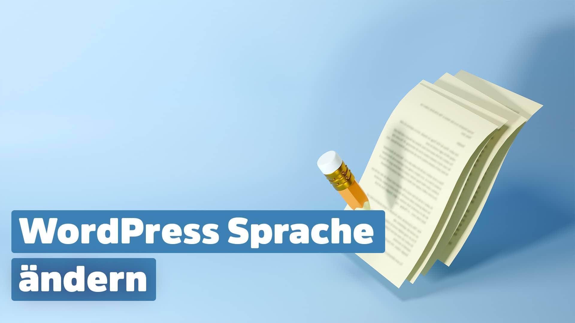WordPress Sprache ändern