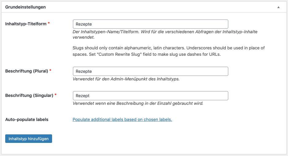 Custom Post Type mit Plugin umsetzen