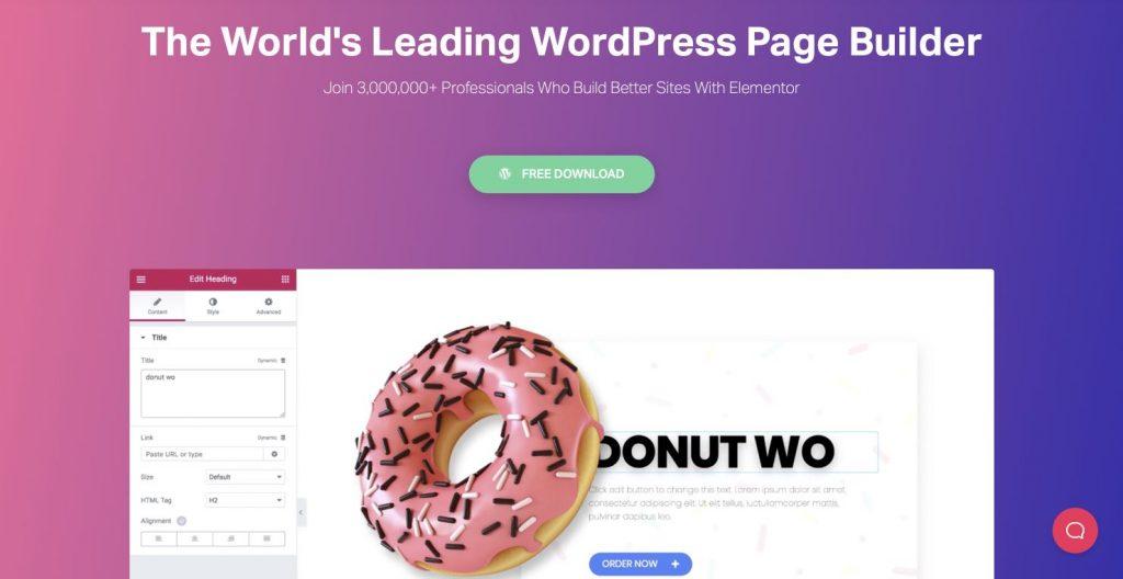 Kostenloser Pagebuilder für WordPress