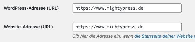WordPress Permalinks auf https umstellen
