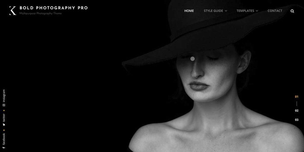 Bold ist ein kostenloses WordPress Template für Fotografen und Fotostudios