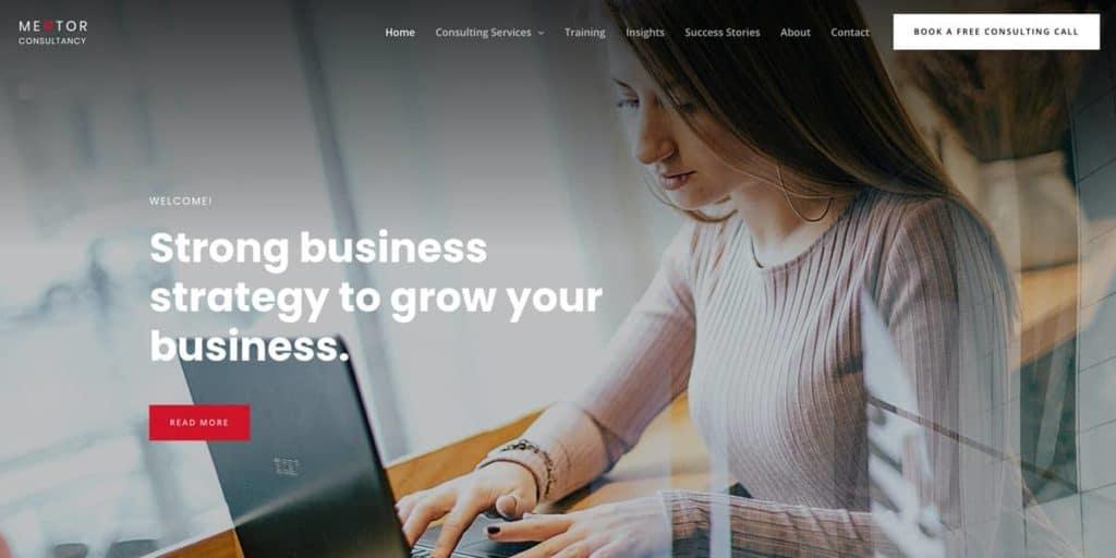 Astra bietet tolle vorgefertigte Vorlagen für Consulting Anbieter