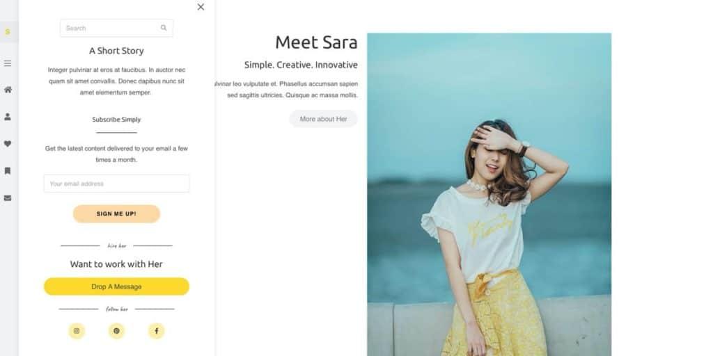 Das Blog Design bietet sogar ein Off-Canvas Menü