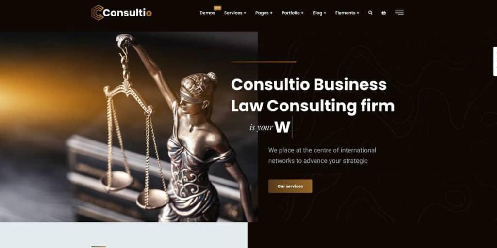 Das Consultio Theme bietet mehr als 60 verschiedene Vorlagen für Berater und Consultants