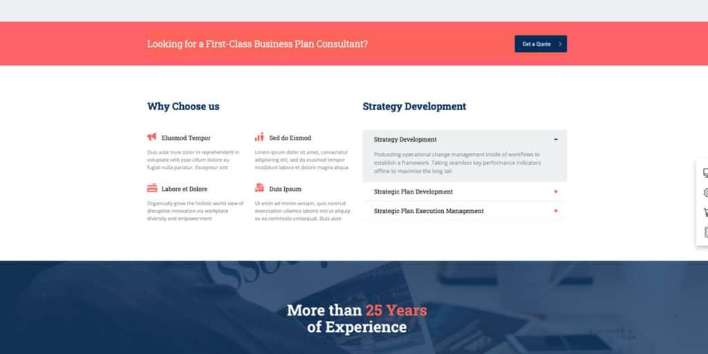 Du kannst das Elementor Plugin verwenden, um deine Website zu entwickeln