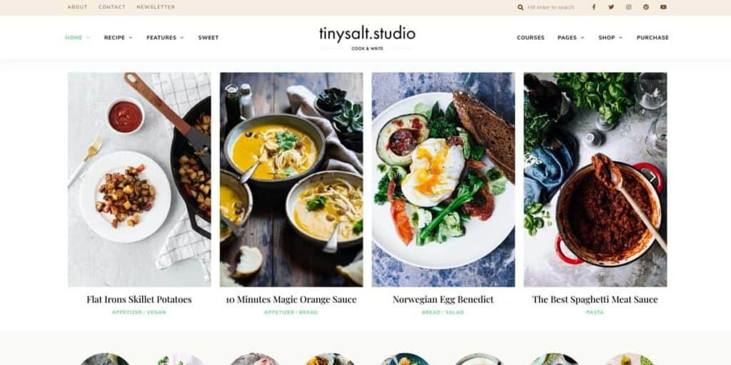 TinySalt ist der optimale Theme für Foodblogger