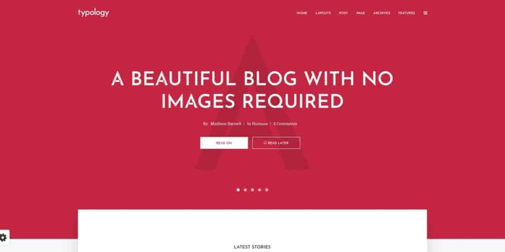 Typology WordPress Theme für Blogs