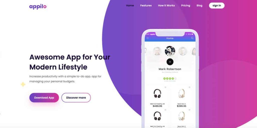 Landing Pages für mobile Apps mit dem Appilo Theme gestalten