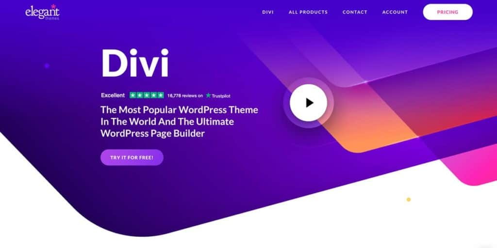 Divi is a top notch wordpress theme choice for photography websites