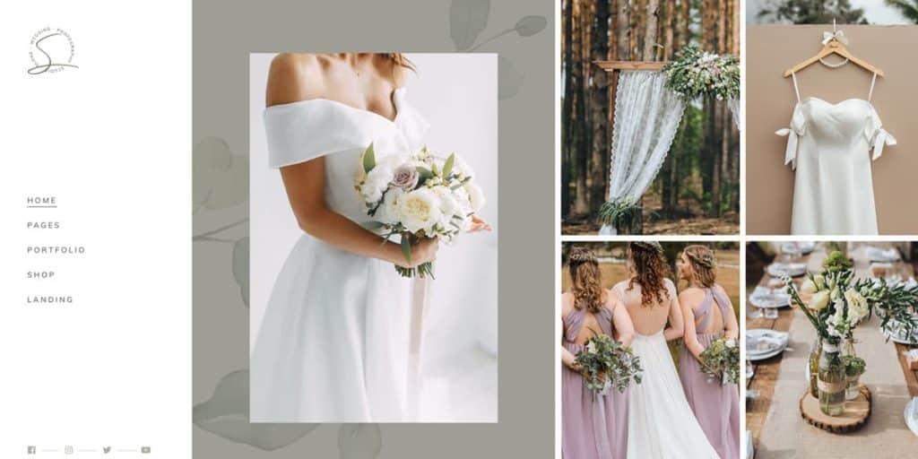 This WordPress theme is a great choice for your wedding photography business