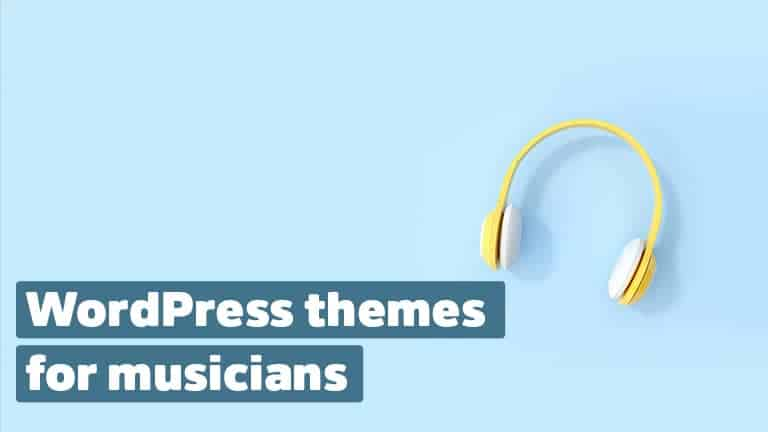 WordPress themes for music and musicians