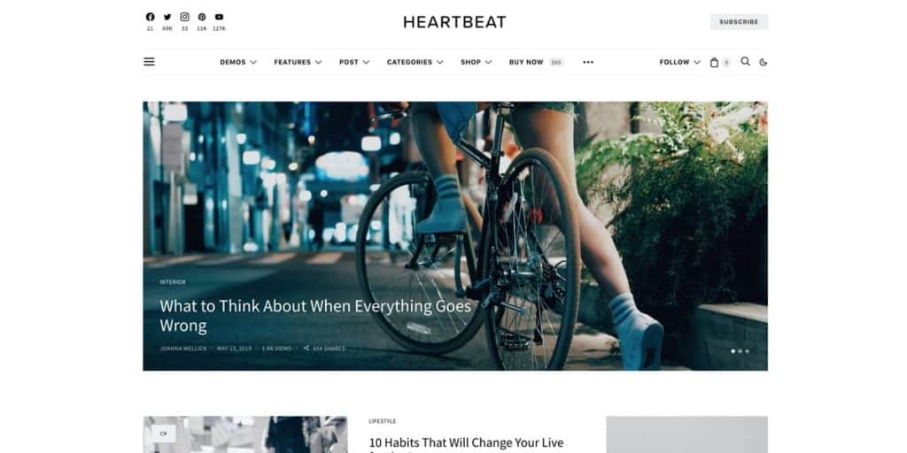 Perfect theme for starting your own blog