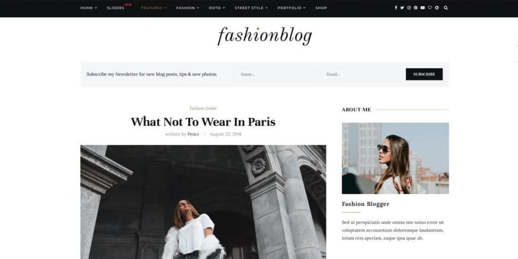 elegant and minimal blog article layout