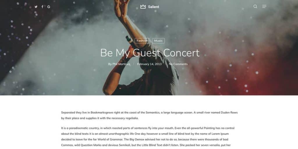 Stunning blog article design