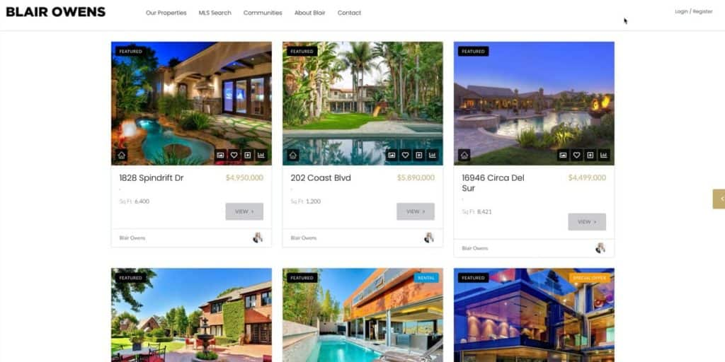 Advanced search for rental houses and houses for sale