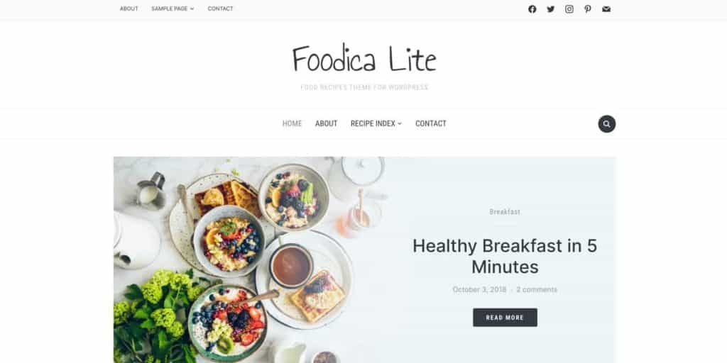 Perfect free solution for food blogs: Foodica Lite