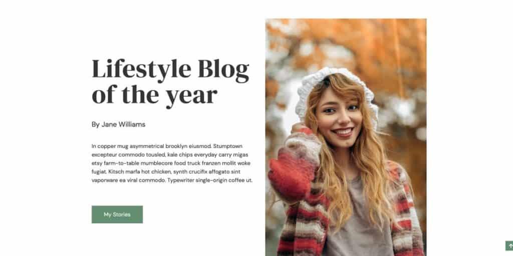 Neve blogging theme for WordPress