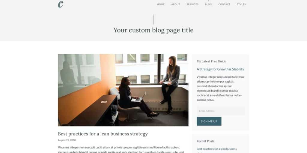 GeneratePress offers a clean and stylish blog design for your content marketing posts