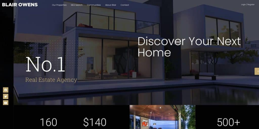 Real Estate 7 is one of the most popular WordPress templates for real estate agents