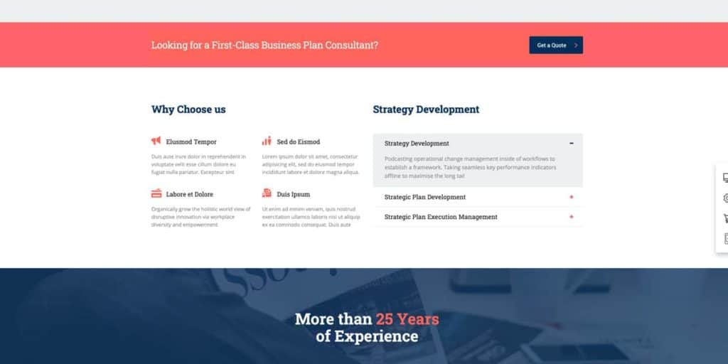 You can use the Elementor plugin to develop your website