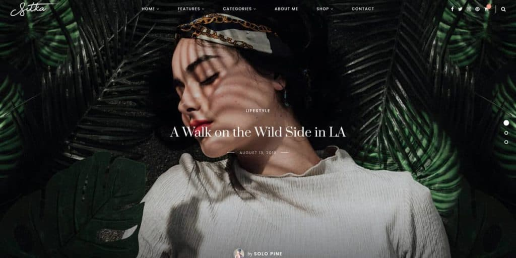 WordPress theme for lifestyle and travel bloggers