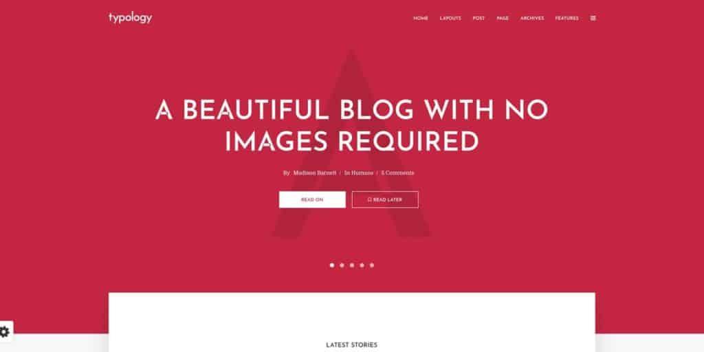 Minimalist blogging theme for WordPress