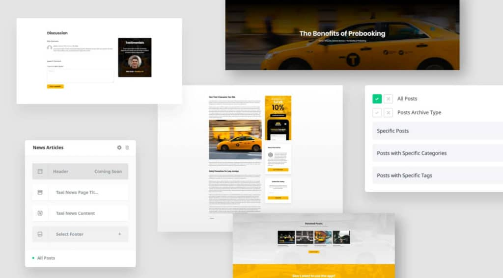 Integrated Layout Builder of the Avada Theme