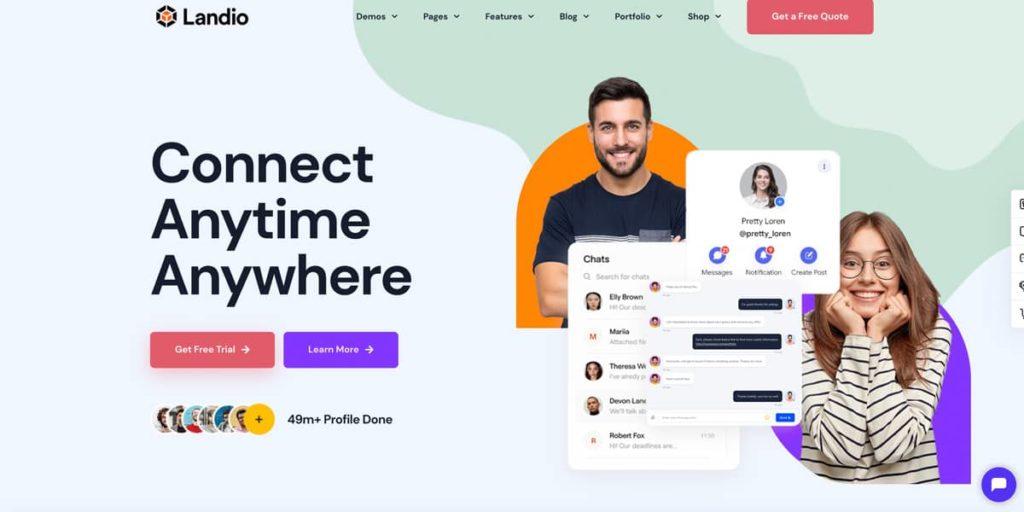 Landio - A WordPress landing page template