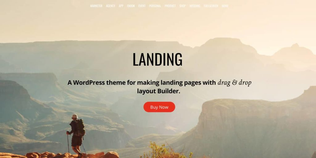 Themify landing page theme for WordPress