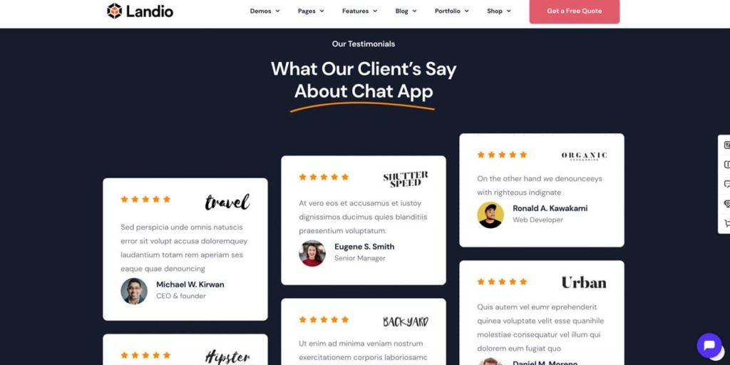 Trust elements on a landing page raise conversions