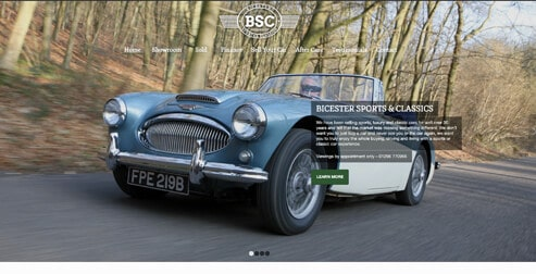 Enfold Theme Example: Bicester Sports Cars