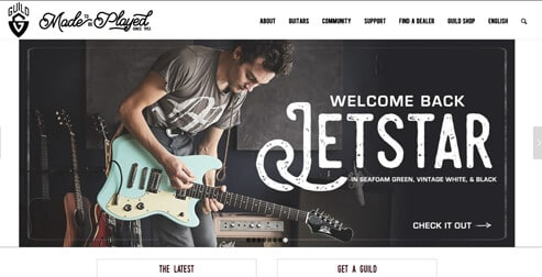 Enfold Example: Guild Guitars Website