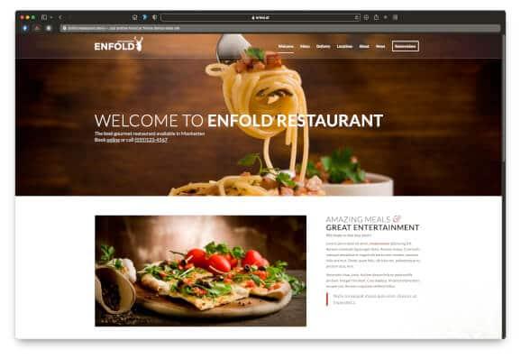 Restaurant Website Example Enfold